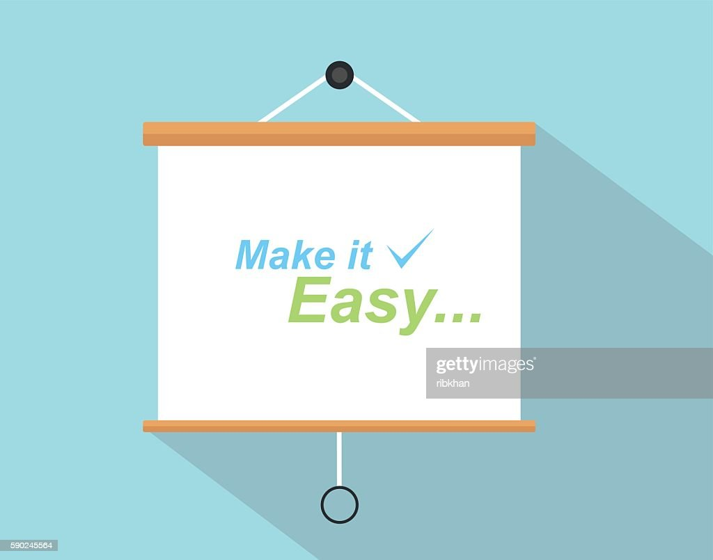 make it easy quotes with checklist sign written on the