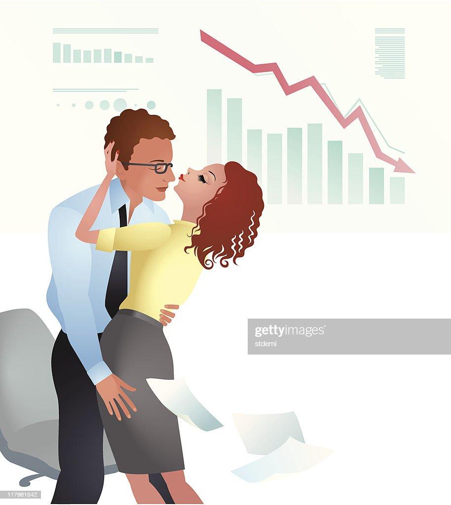 Make Love Not Crisis : stock illustration