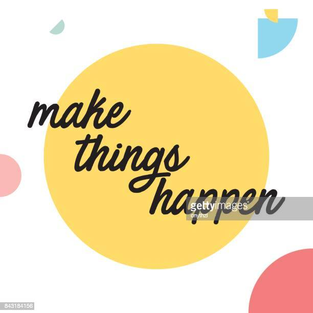 make things happen - motivation stock illustrations, clip art, cartoons, & icons