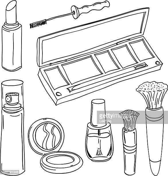 Make up tools in black and white