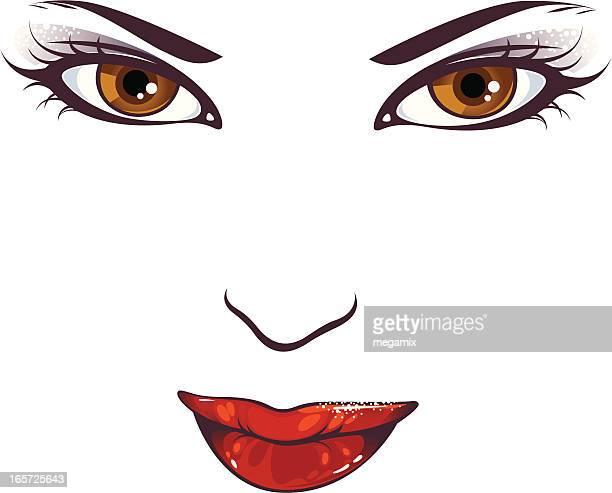 ilustraciones, imágenes clip art, dibujos animados e iconos de stock de completar. - maquillaje para ojos