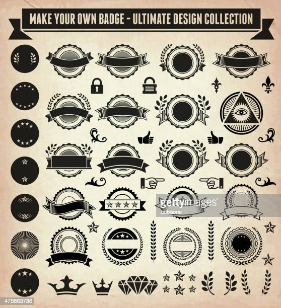 Make your own custom badge - vintage design collection