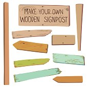Make your own wooden singpost