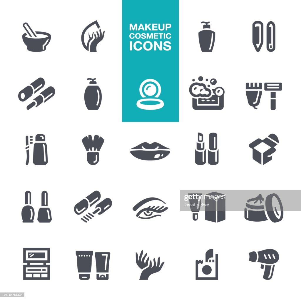 Makeup and Cosmetics  icons