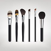Make-up brushes vector