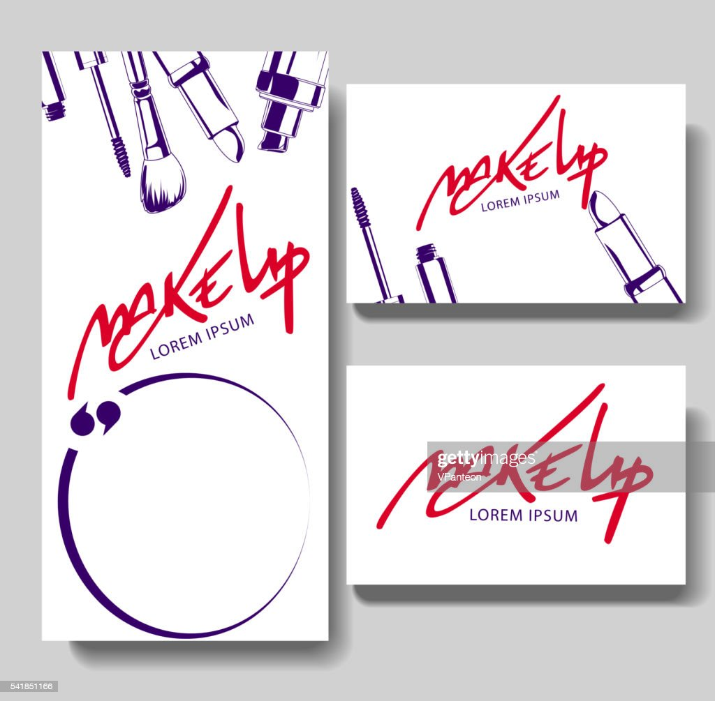 Makeup business card