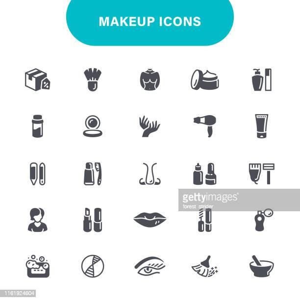 makeup icons - lip gloss stock illustrations, clip art, cartoons, & icons