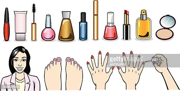 makeup illustrations - toe stock illustrations, clip art, cartoons, & icons