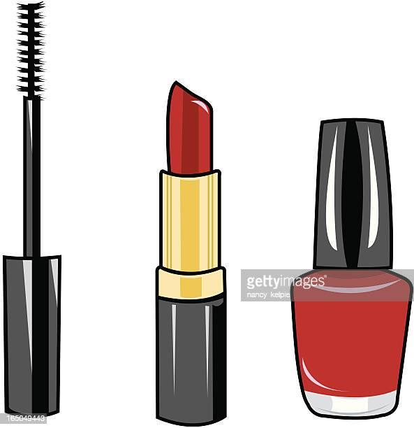 ilustraciones, imágenes clip art, dibujos animados e iconos de stock de maquillaje de - maquillaje para ojos