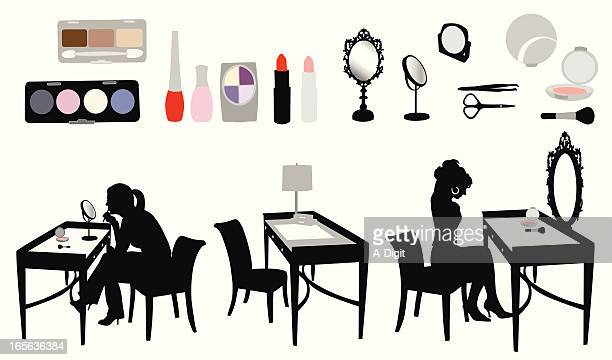 Makeup Vector Silhouette
