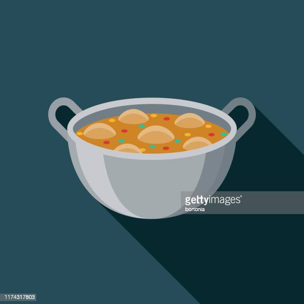 makhan murg (butter chicken) indian food icon - indian food stock illustrations