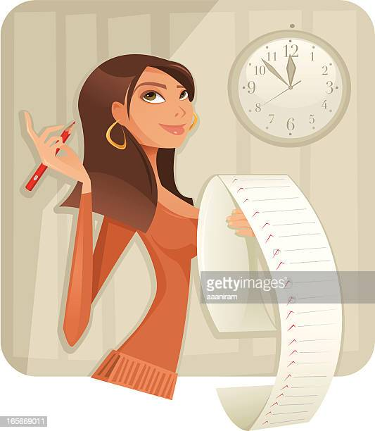 making a list - to do list stock illustrations, clip art, cartoons, & icons