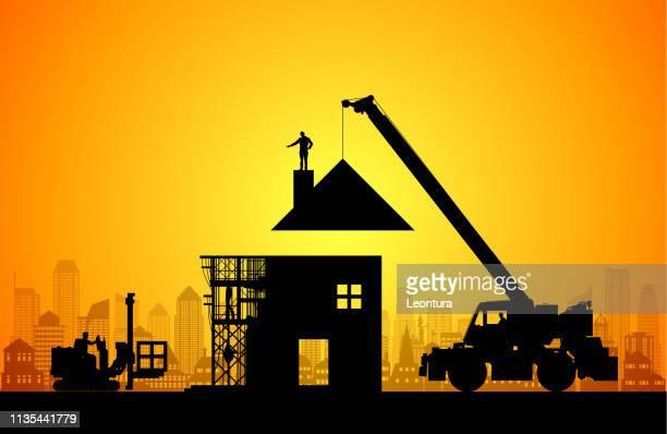 新しい家を作る - ホームページ点のイラスト素材/クリップアート素材/マンガ素材/アイコン素材