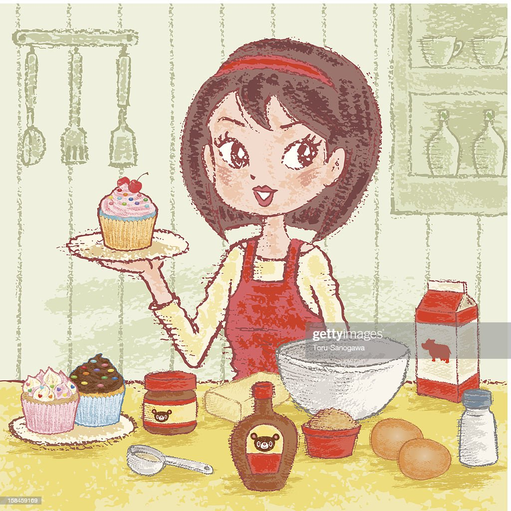 Making Cupcakes : stock illustration