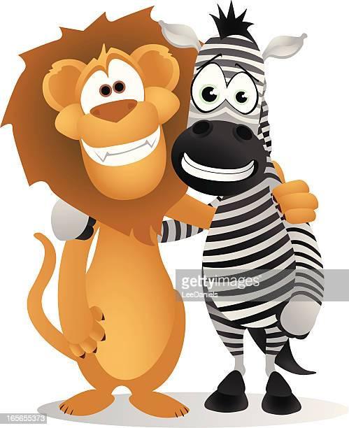 ilustrações, clipart, desenhos animados e ícones de fazer amigos - animal mane