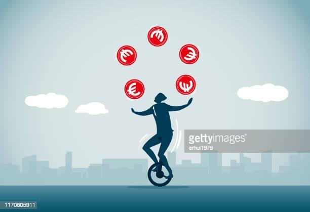 ilustraciones, imágenes clip art, dibujos animados e iconos de stock de ganar dinero - equilibrio