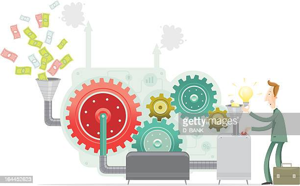 making money - making money stock illustrations