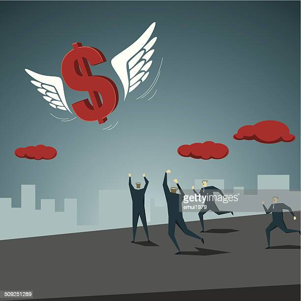 making money - money out the window stock illustrations, clip art, cartoons, & icons