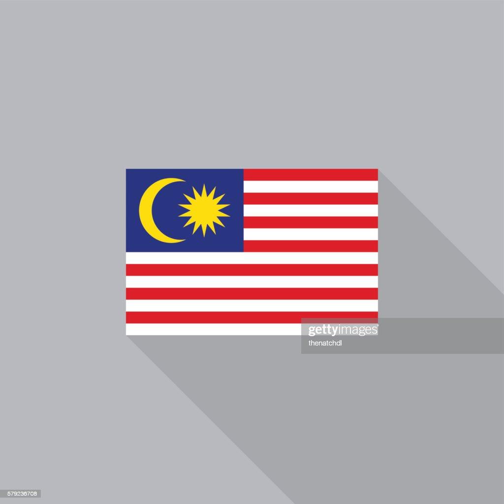Malaysia flag flat design vector illustration