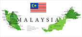15 - Malaysia - Green Isolated 10