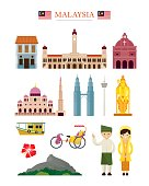 Malaysia Landmarks Architecture Building Object Set