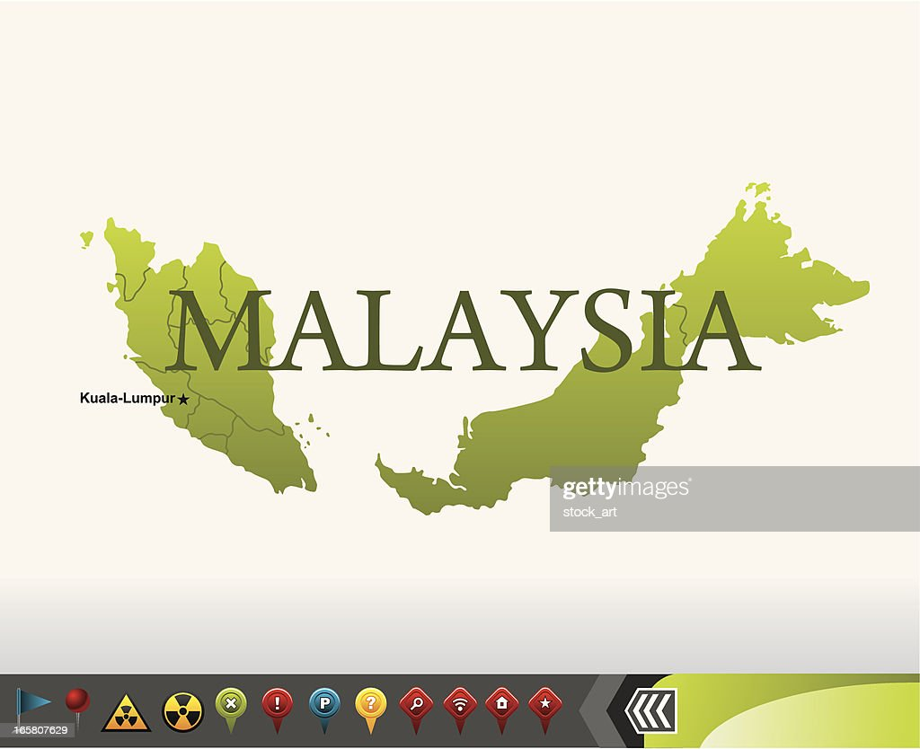 Malaysia map with navigation icons