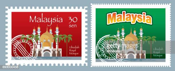 malaysia postage - post office stock illustrations, clip art, cartoons, & icons