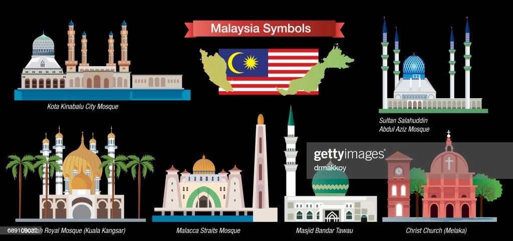 Malaysia Symbols : Stock Illustration