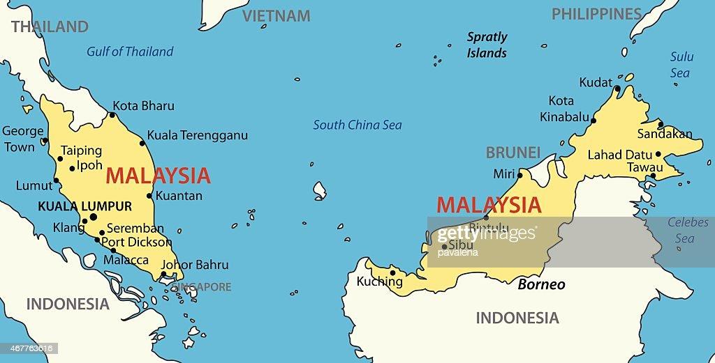 Malaysia - vector map