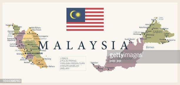 illustrations, cliparts, dessins animés et icônes de 21 - malaisie - vintage isolé 10 - kuala lumpur