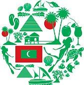 Maldives Icon Set
