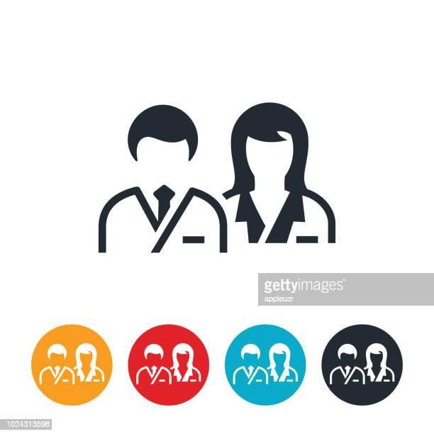 男性と女性の医師アイコン - 女医点のイラスト素材/クリップアート素材/マンガ素材/アイコン素材
