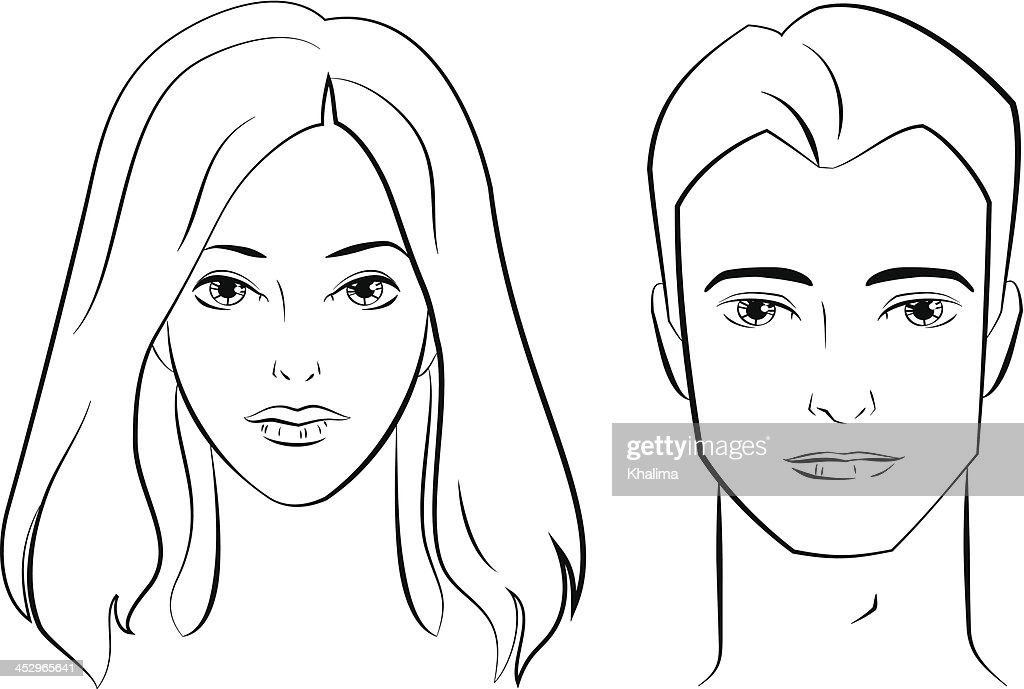 Male and Female Faces