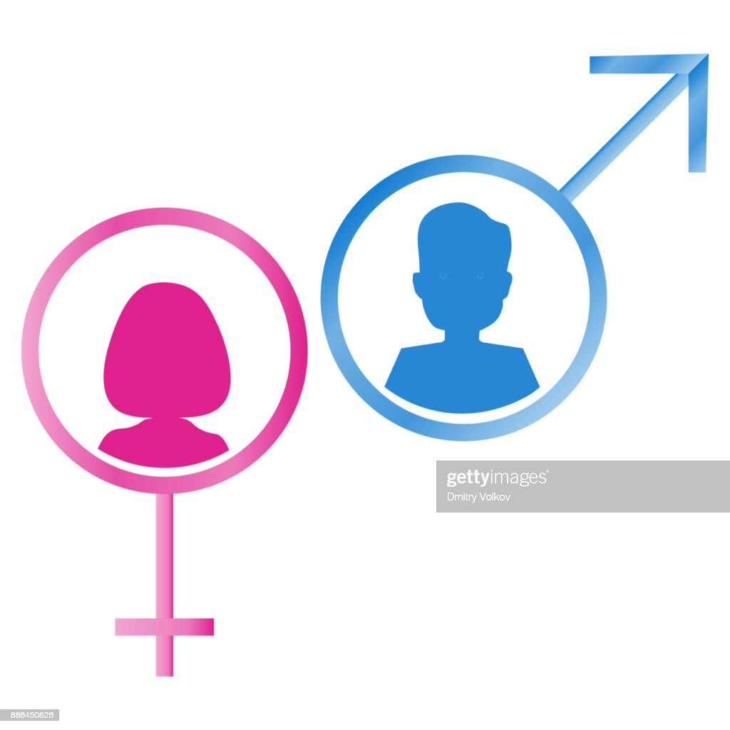 Male And Female Gender Symbols Vector Art Getty Images