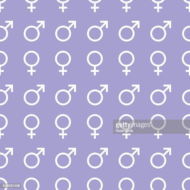 ilustraciones, imágenes clip art, dibujos animados e iconos de stock de male and female icon pattern - símbolo de género