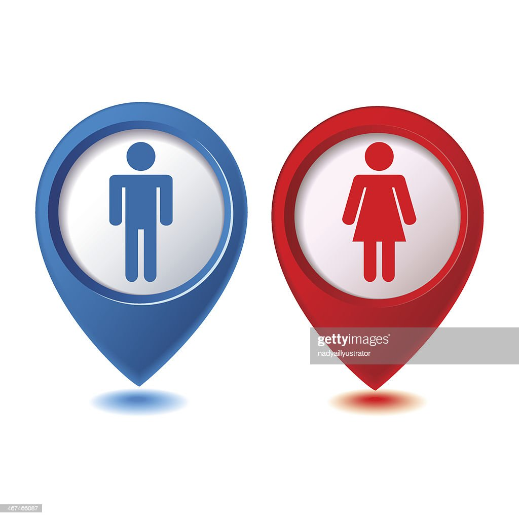 male and female sign vector illustration