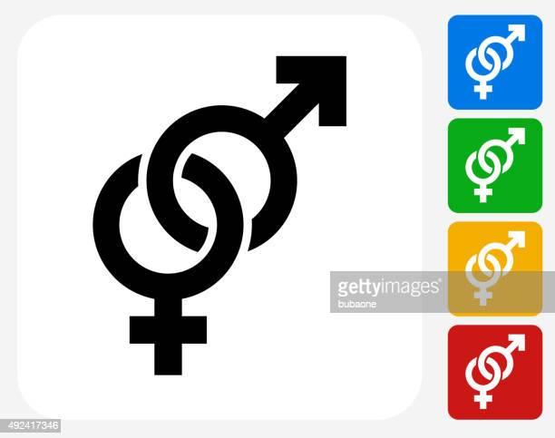 Sexo masculino e feminino sinal ícone Flat Design gráfico