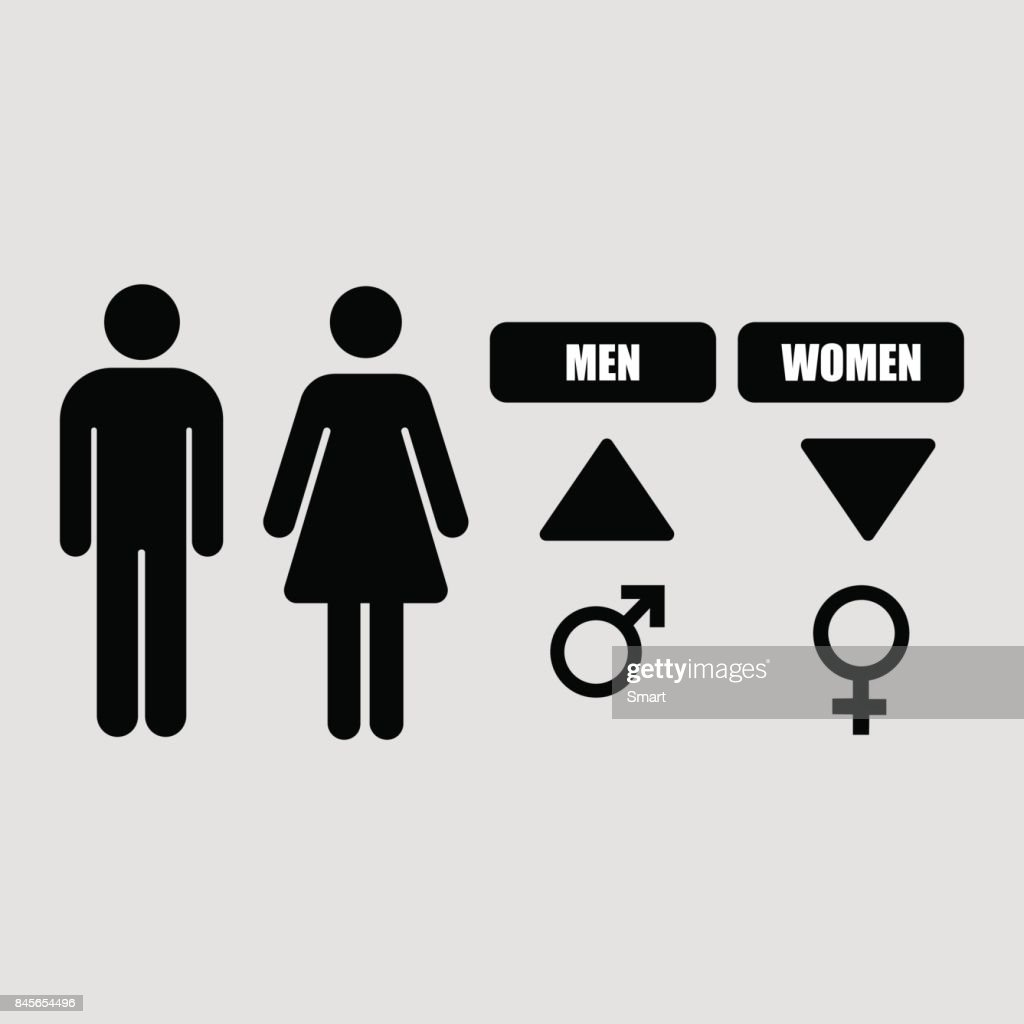 Male And Female Symbols On A Grey Background Vector Art Getty Images