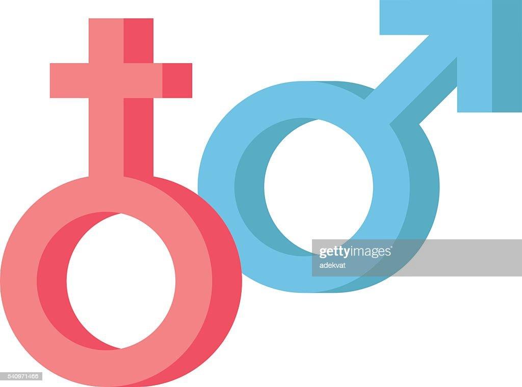 Male and female symbols vector combination.