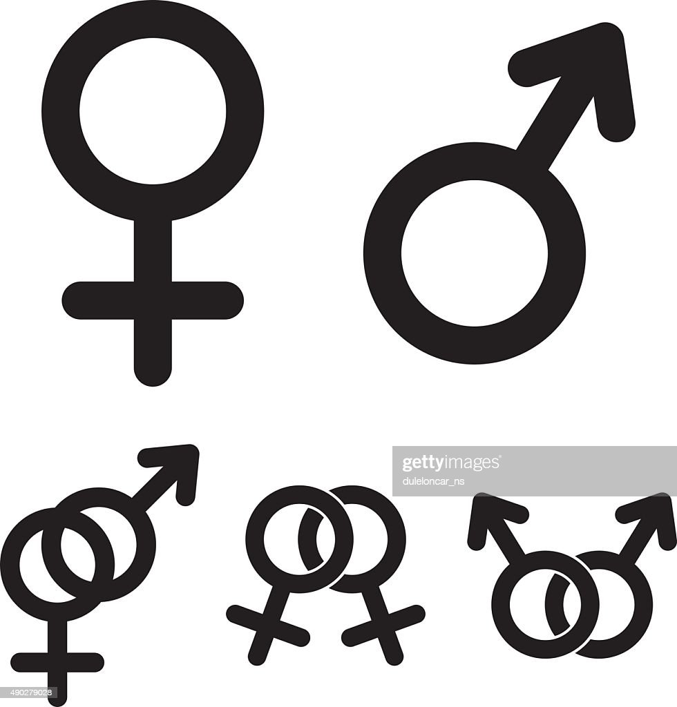 Male And Female Symbols Vector Art Getty Images