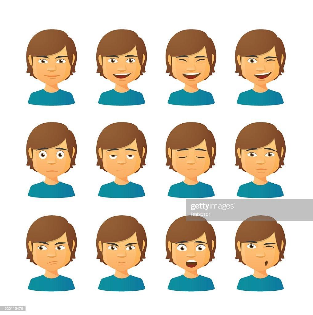 Male avatar expression set