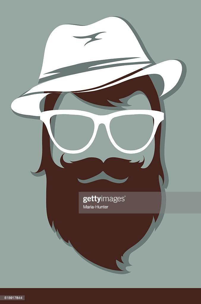 Male avatar, hipster look