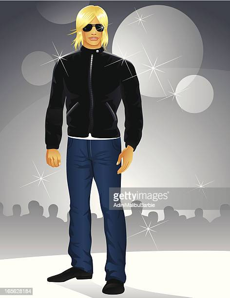 male celebrity - jeans stock illustrations, clip art, cartoons, & icons