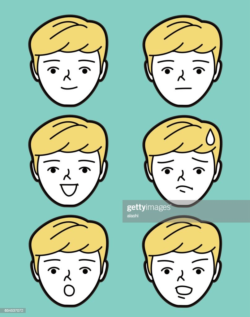 Male emoticon (young man face)