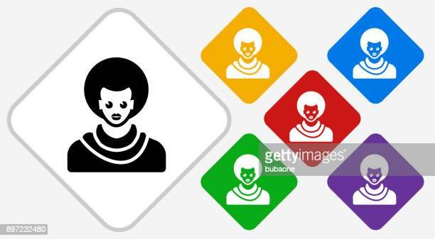 Male Face Color Diamond Vector Icon