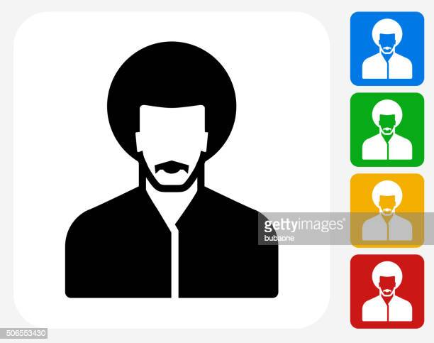 Male Face Icon Flat Graphic Design