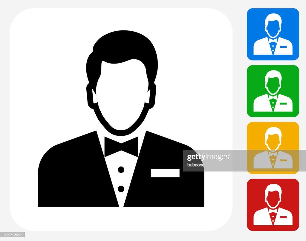 Male Face Icon Flat Graphic Design : stock illustration