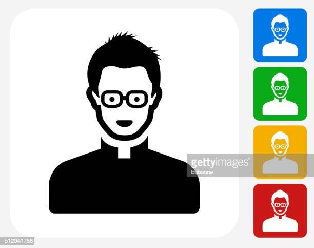 Male Face Icon Flat Graphic Design
