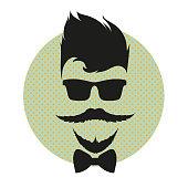 Male face, silhouette vector illustration