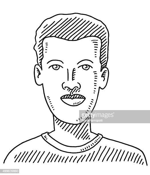 Male Face Young Man Drawing
